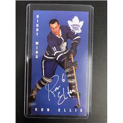RON ELLIS AUTOGRAPHED TALL BOY HOCKEY CARD