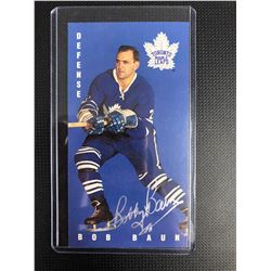 BOB BAUN AUTOGRAPHED TALL BOY HOCKEY CARD