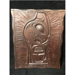 """12"""" NATIVE WOOD CARVING SIGNED"""
