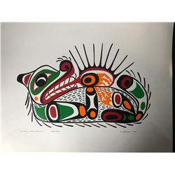 """20 X 24 LIMITED EDITION PRINT SIGNED BY J. NELSON """" OTTER SEA URCHIN"""""""