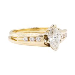 0.75 ctw Diamond Ring Soldered To Band - 14KT Yellow Gold