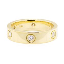 0.60 ctw Diamond Ring - 18KT Yellow Gold
