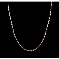 6.34 ctw Diamond Necklace - 18KT Rose Gold