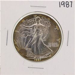 1987 $1 American Silver Eagle Coin Nice Toning