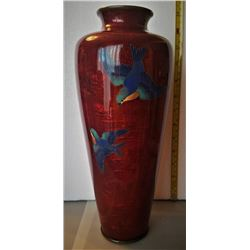 Beautiful Meiji Japanese Ginbari Shippo Vase