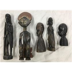 Collection Of Carved African Figures