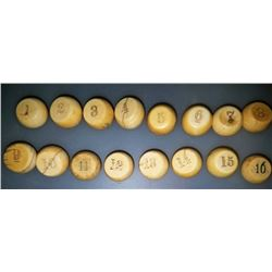 Early Gambling Pea Pill Box Set Of 16