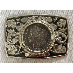 Belt Buckle With 1882 Silver Dollar