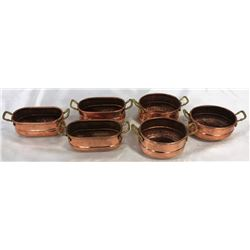Set Of Hand Pounded Turkish Copper