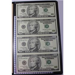WORLD RESERVE UNCUT SHEET OF 4-$10.00
