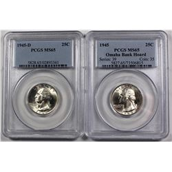 PCGS GRADED WASHINGTON QUARTERS