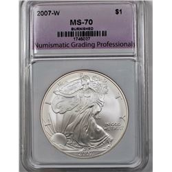 2007-W AMERICAN SILVER EAGLE BURNISHED NGP