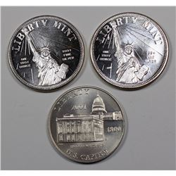 3--1 OZ  SILVER ROUNDS
