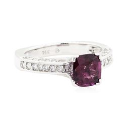 2.06 ctw Lavender Spinel And Diamond Ring - 14KT White Gold