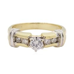 0.6 ctw Diamond Ring - 14KT Yellow Gold