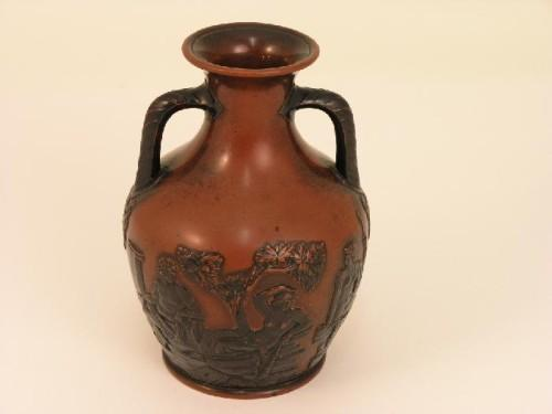 A Terracotta Model Of The Portland Vase Moulded In Bold Relief A