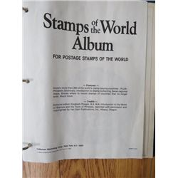 BINDER W/STAMPS (INTRODUCTION TO STAMPS OF THE WORLD) *W/SOME STAMPS*