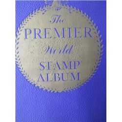 THE PREMIER WORLD STAMP ALBUM (SOME STAMPS) *1960*