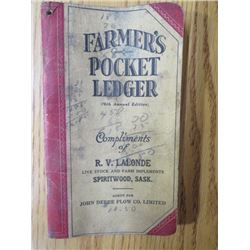 POCKET LEDGER (JD FARMERS) *1942-1943*