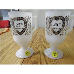 25TH ANNIVERSARY CUPS (5.5 INCHES TALL)