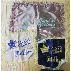SOUVENIR PILLOW COVERS (TORONTO, ALASKA HIGHWAY, MOTHER)