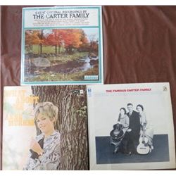 ALBUMS (THE FAMOUS CARTER FAMILY, ANNE MURRAY) *QTY 4*