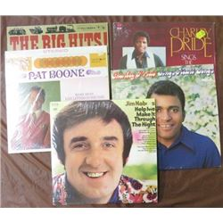 ALBUMS (CHARLIE PRIDE, JIM NABORS, PAT BOON & BIG HITS) *QTY 5*