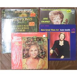 ALBUMS (KATE SMITH, JUNE ELKHARDT, MARILYN JONES, ETC) *QTY 5*