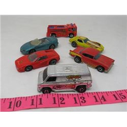 LOT OF 6 HOT WHEELS TOYS (ASSORTED TYPES &MODELS)