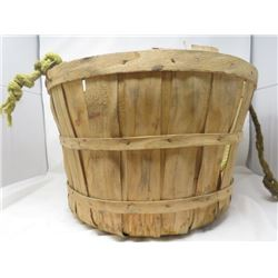 BUSHEL BASKET (WOODEN) *ON ROPE*