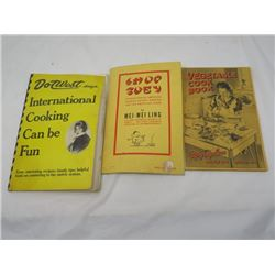 COOK BOOKS  (DOT WEST - INTERNATIONAL ,  MEI-MEILING - CHOP SUEY, MCFAYDEN SEED CO. - VEGETABLES) *Q