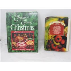 2 COOK BOOKS (COMPANY'S COMING FOR CHRISTMAS & CANADIAN LIVING)