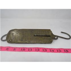 HANGING HOUSE SCALE (EXCELSIOR IMPROVED SPRING BALANCE) *SARGENT & CO.*