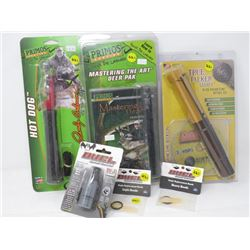 LOT OF 6 HUNTING ACCESSORIES (PRIMO, DUEL, TRUE TALKER)