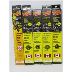 """LOT OF 5 HUNTING ACCESSORIES (SCORPION STRINGS) *47¾ TO 80½""""*"""
