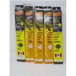 """LOT OF 5 HUNTING ACCESSORIES (SCORPION STRINGS) *31 7/8"""" TO 90""""*"""