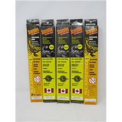"""LOT OF 5 HUNTING ACCESSORIES (SCORPION STRINGS) *42 1/16"""" TO 51¾""""* (1 PKG CABLES ONLY)"""
