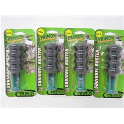 LOT OF 4 HUNTING ACCESSORIES (PRIMOS) SQUIRREL BUSTERS