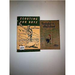 "BOY SCOUT BOOKS (""SCOUTING FOR BOYS"" & ""TENDER FOOT TO KINGS SCOUT"")"