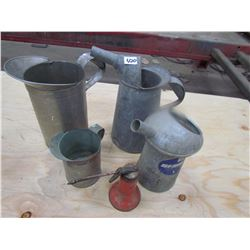 OIL CONTAINERS (QTY 5), ETC