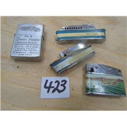 LIGHTERS (QTY 4) *2 CRUISE SHIP, 1 CROP DUSTING, 1, ALS TRAILER HAULING*