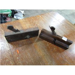 LOT OF 2 WOODEN MOULDING PLANES (BOTH STAMPED)