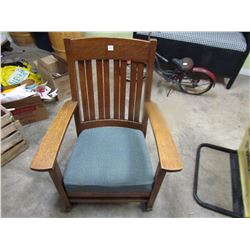 OAK ROCKER 1/4 CUT (VERY SOLID ARTS AND CRAFTS STYLE)