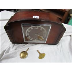 MANTLE CLOCK (MADE IN ENGLAND) *MECHANISM ENGLISH MADE*