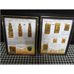 """LOT OF 2 DISPLAY ADS (BUFFALO OILS) *9.5"""" X 12""""* (NOT OLD, BUT NICE)"""