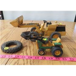 LOT OF 3 JD EXAVATOR (1 TINY, 1 LARGE & SPARE TIRE)