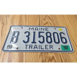 MAINE LICENCE PLATE
