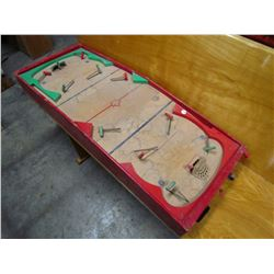 HOCKEY GAME (VINTAGE WOODEN) *NICE - AS FOUND IN ATTIC*