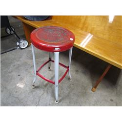 "METAL STOOL (ART DECO) *24"" HIGH*"