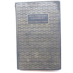 HARD COVER BOOK (MISS TOROBIN'S EXPERIMENT) *BY HORACE VACHELL* (1934)